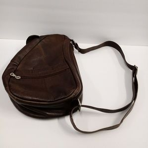Paul& Taylor Pebble Leather Distressed Sling Bag